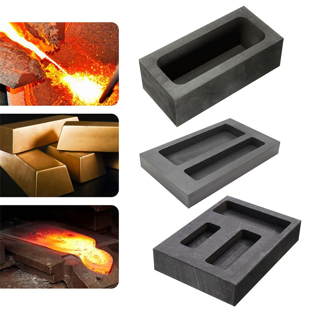 Large Graphite Casting Ingot Mold For Gold Silver Copper Melting Casting Refining Scrap Bar Crucible Tool Parts