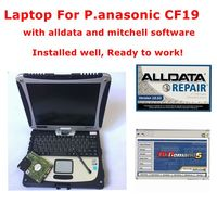 2019 Hot sale Alldata 10.53 and Mitchell ondemand software 2015v auto repair software installed well on Toughbook CF19 laptop 4g