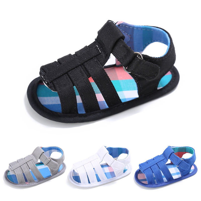 2018 Summer Baby Boys Shoes Summer Barefoot Slippers Infant Toddler Shoes 4 Color Cotton Material