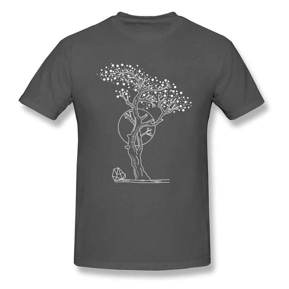 Pointillist Albero della Vita Degli Uomini Del Manicotto Del Bicchierino di Primavera Maglietta Più di Formato A Basso Prezzo Irlanda T-Shirt 100% Cotone di Amore Albero Pianta T camicia