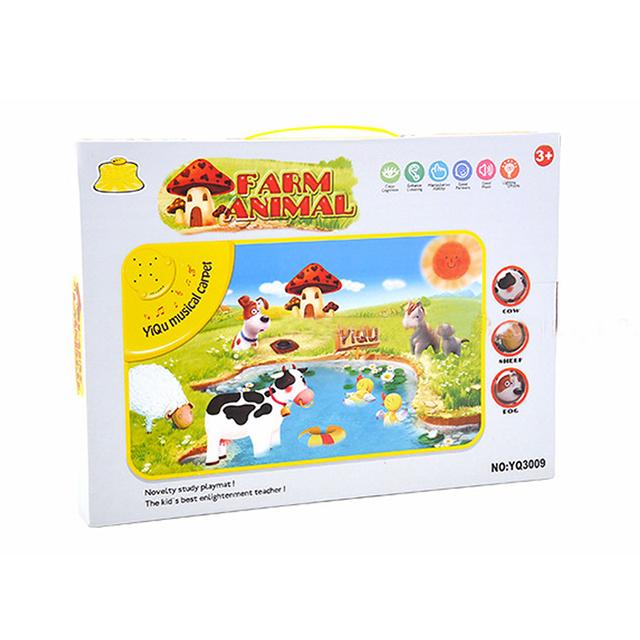 Bebê Musical Mat Aprendizagem Fazenda Flash Música Tapete Cobertor Toque Toy for Kids New StyleThicken 1 cm