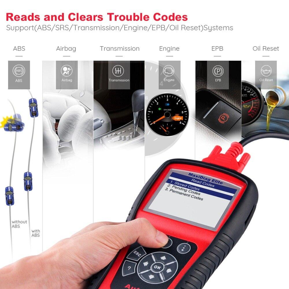 Image 3 - Autel MaxiDiag Elite MD802 OBD2 Scanner Car Diagnostic Tool Code Reader Engine ABS Airbag SRS Engine EPB Automotive Code Reader