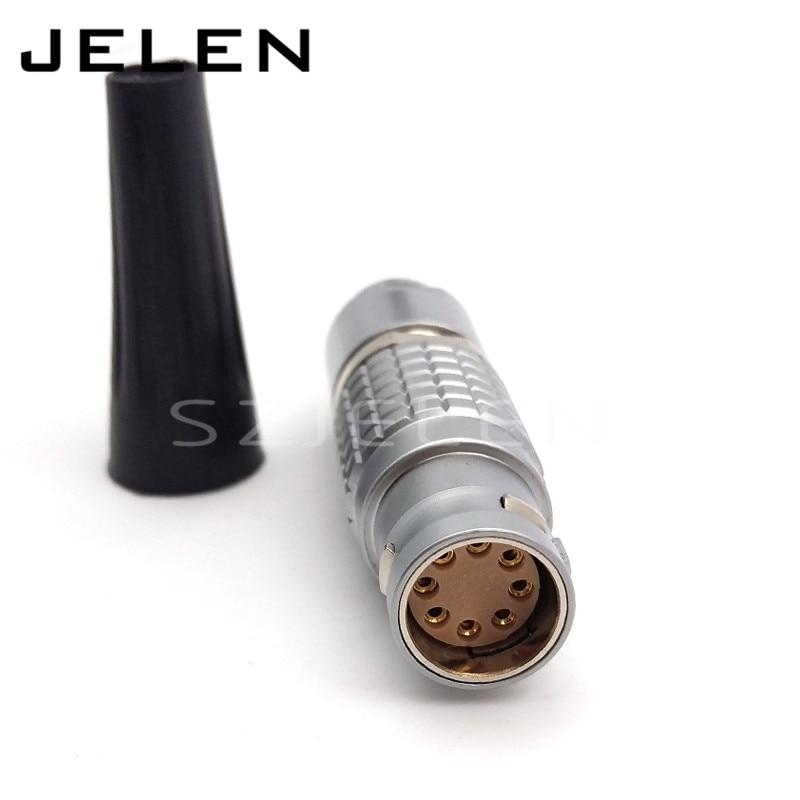 camera ALEXA MINI 8-pin power cable connector plug. FGJ.2B.308.camera ALEXA MINI 8-pin power cable connector plug. FGJ.2B.308.