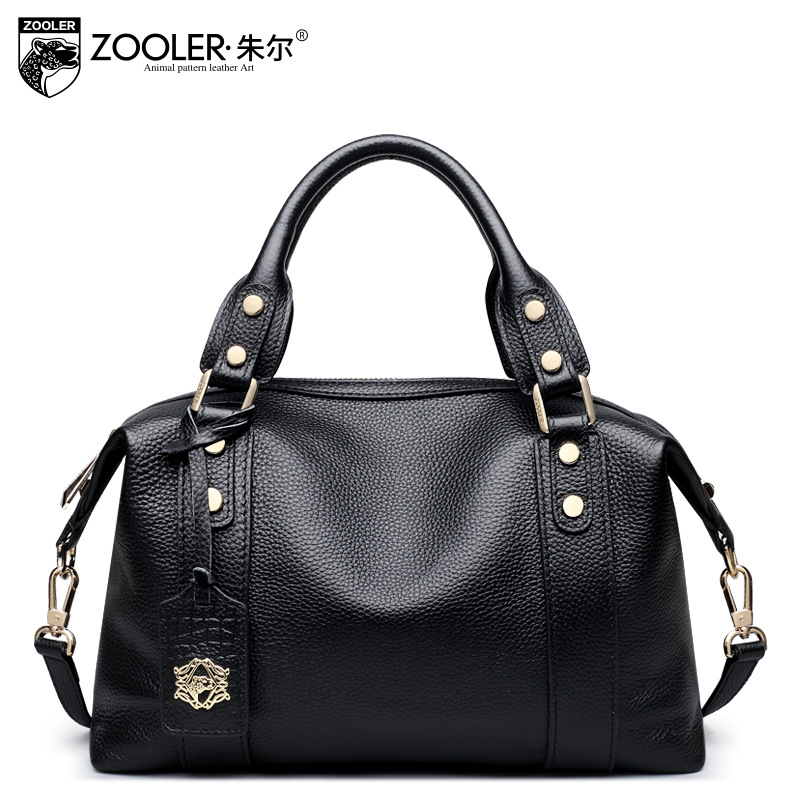 ZOOLER Cowhide Leather Laptop Handbag Large Capacity European and American Style Handbags Women Messenger Bag Real Leather Tote dtbg pu leather women handbag fashion european and american style totes messenger bag original design briefcase zipper 2017