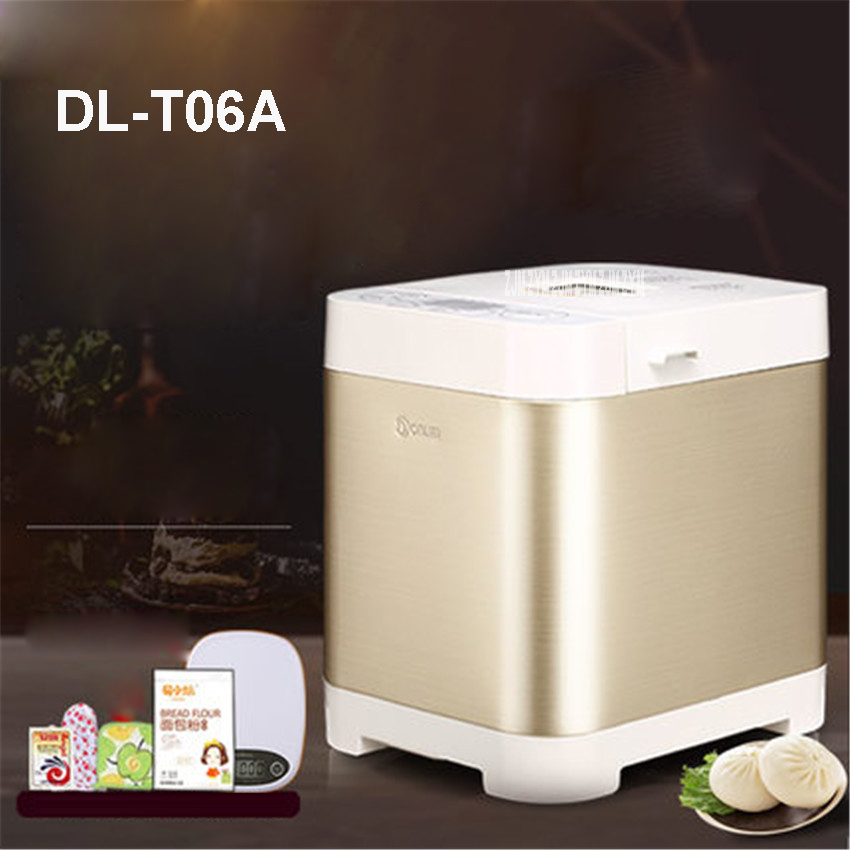 DL-T06A 220V/50hz fully automatic multifunctional bread machine intelligent and face yogurt cake machine 450g/700g capacity 450W realistic cake cell phone strap with bread fragrance assorted smiling face