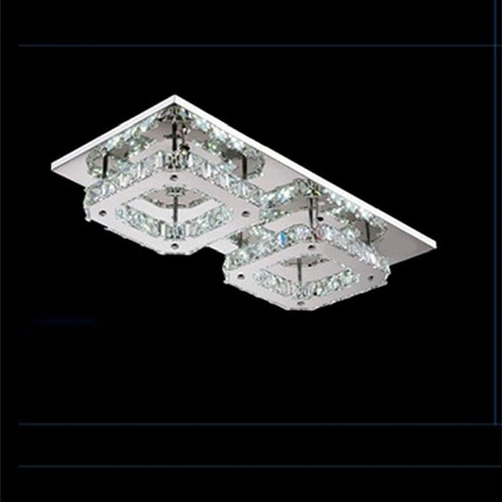 AC100-240V 44*22cm 24W Modern LED Diamond Crystal Ceiling Light Fitting Crystal Lamp Hallway Corridor decorative ceiling lamp