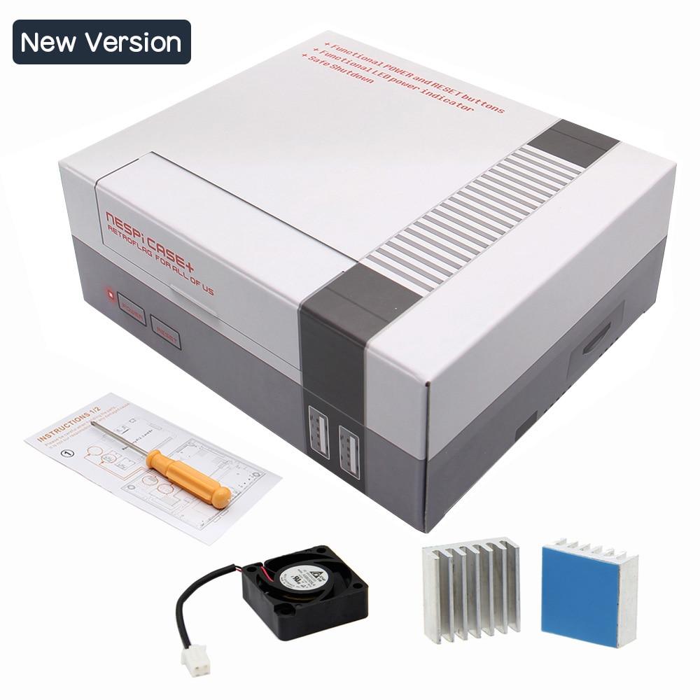 Upgraded New Raspberry Pi 3 Case Mini Nes Retroflag Nespi For Power On Wiring Kit Model B Classical Style Game Console