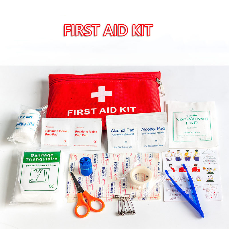 First aid kits,Medical bag, car portable family emergency kit, outdoor survival basic supplies