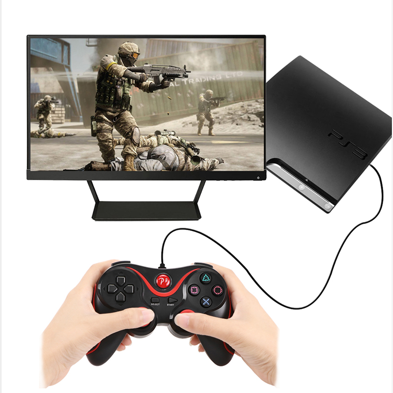 10pcs lot Wireless Bluetooth Gamepad Joystick Joypad Dual Vibration Game Controller For Playstation 3 PS3 Controller