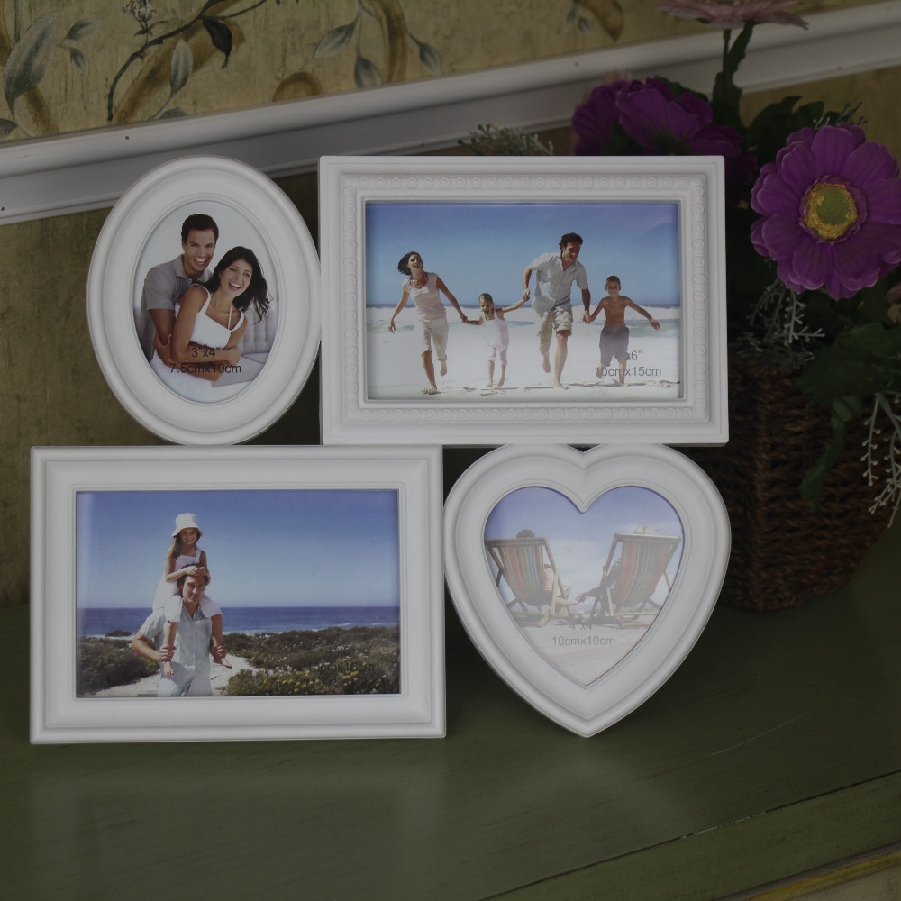 Happy Family Photo Frame With Four Pictures 4x6\