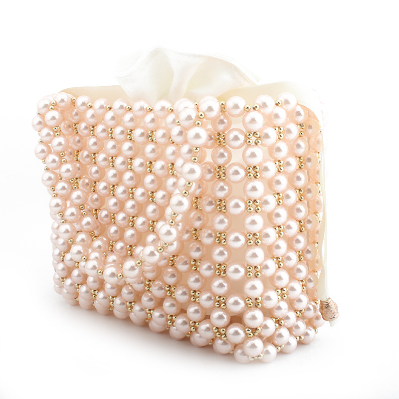 New handmade evening clutch pearl bag beaded purses and handbags cute  beading box totes bag