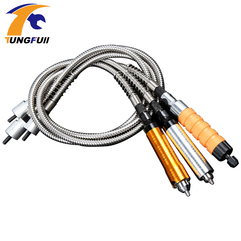 Tungfull Electric Rinding Flexible Shaft Hose Drill Chuck Engraving Machine Engraving Pen Electric Drill Dremel Accessories