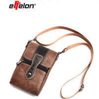 6 3 Universal PU Leather Cell Phone Bag Shoulder Pocket Wallet Pouch Case Neck Strap For