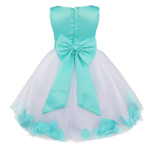 Image 2 - Flower Girls Dress Flower Petals Tulle Bow Sleeveless Formal Dresses for Wedding Pageant Birthday Party Formal Special Occasions