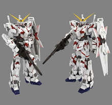 paper model robots gundam model up to the full version of the final refined version of the Unicorn 3D DIY puzzles toy