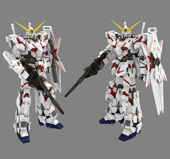 paper model robots gundam model up to the full version of the final refined version of the Unicorn 3D DIY puzzles toy цена