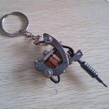 1 piece Mini Tattoo Machine Gun Pendant  V style Pendant Necklace for tattoo artists Key chain Keyring Creative Gift Boyfriend
