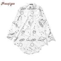 High Quality Blouses Women Kawaii Long Shirts Autumn New Long Sleeve Blusa Loose Harajuku Casual White