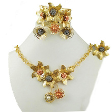 african bead jewelry sets big  jewelry sets for wedding dubai necklace flower necklace beads necklace недорого