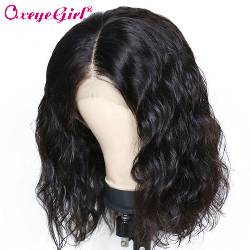 Malaysian Curly Bob Wig Short Bob Wig Lace Front Human Hair Wigs 13x6 Lace Front Wig 180% Density Humain Hair Oxeye girl Remy-in Human Hair Lace Wigs from Hair Extensions & Wigs    1