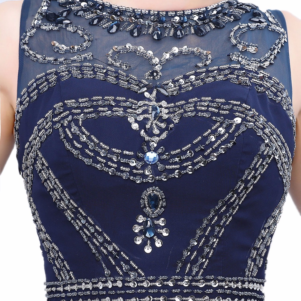 2017 Avondjurk O-hals Kralen Kristallen Elegante Jurk Party Vestido - Jurken voor bijzondere gelegenheden - Foto 5
