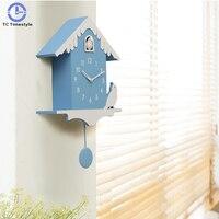 Cuckoo Clock Home Decoration Accessories Modern Design Watch Cuckoo Children Room Bedroom Wall Clocks Minimalist Creative