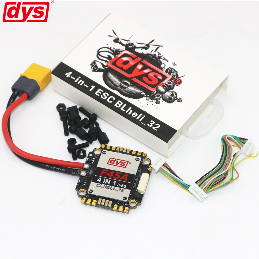 DYS Aria F45A 45A ESC 4in1 Blheli_32 3 ~ 5 S Lipo 5 В/3A и 9 В/ 1.5A BEC 4 в 1 бесщеточный ESC Dshot 1200 для FPV Racing Multicopter