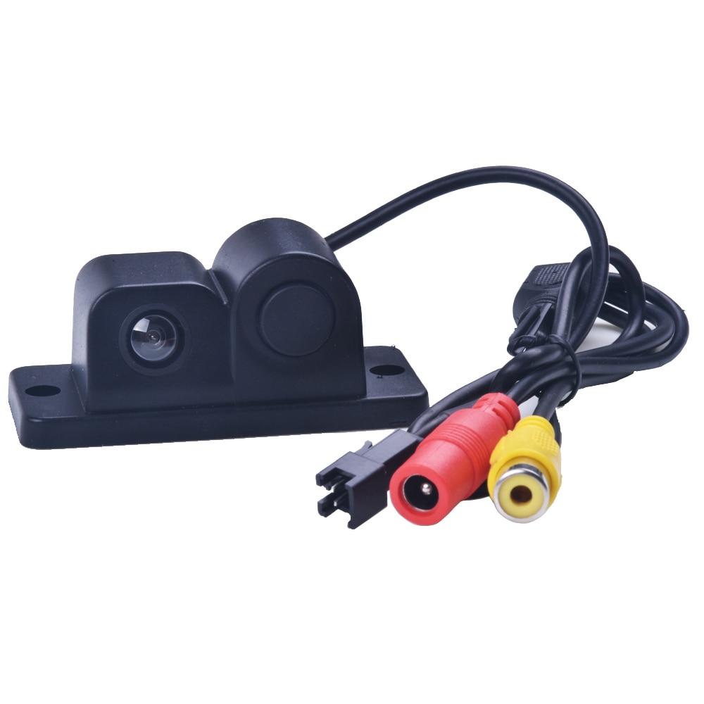 ใหม่ 2 in 1 LED เสียงปลุกรถสำรองข้อมูลย้อนกลับเซ็นเซอร์ที่จอดรถวิดีโอระบบเรดาร์ที่มี CCD กล้องมองหลังที่จอดรถ