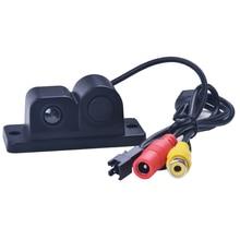 Новый 2 в 1 светодиодный звуковой сигнализации автомобилей Обратный резервного копирования видео парковка Сенсор радар Системы с CCD вид сзади Парковка камера