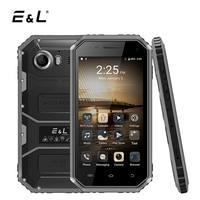 E&L W6 4.5 Inch Smartphone Android 6.0 MTK6735 Quad Core 1GB RAM 8GB ROM Dual SIM Card IP68 Waterproof Shockproof Phone 4G LTE