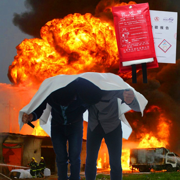 1.2m * 1.8m fire blanket, escape special fire equipment, fire fighting material.fire extinguishing tools