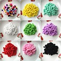 20g(288pcs) 10mm Multi Colors Pompoms Fur Craft DIY Soft Pom Poms Wedding Decoration/Sewing On Cloth Accessories Free Shipping