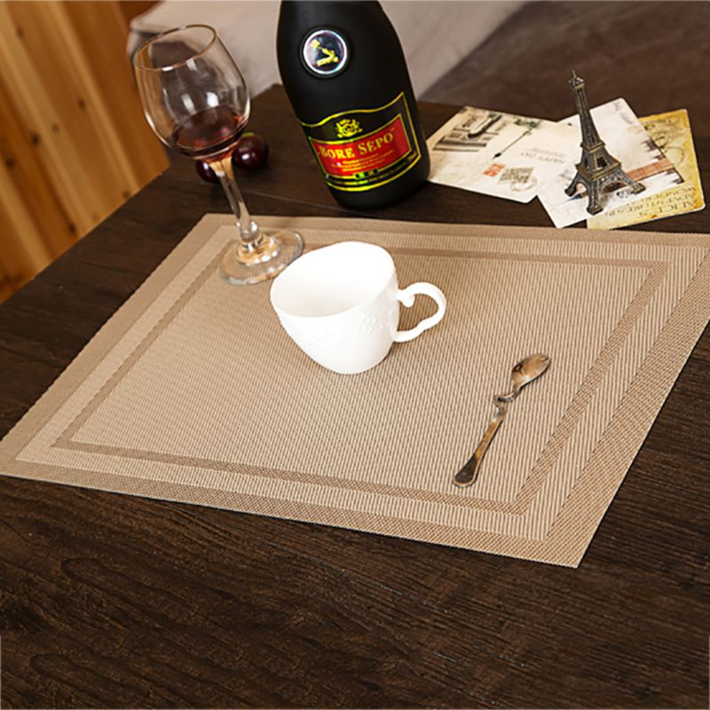 4pcs Set PVC Placemat Table Mat Adiabatic Protector Coasters Dining DecorsChina