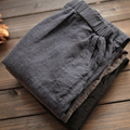 Mujeres de Los Hombres de Algodón de Lino Pantalones Harem Baggy Loose Fit Pantalones Casual Pantalones de Cintura Alta Señora de La Pretina de La Manera Nuevo 904-277