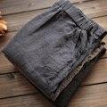 Women Men Linen Cotton Harem Pants Baggy Loose Fit Trousers Casual High Waist Lady Waistband Fashion New 904-277