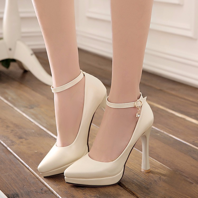2017 woman pumps white wedding shoes women high heel shoes platform shoes sy-1887 5