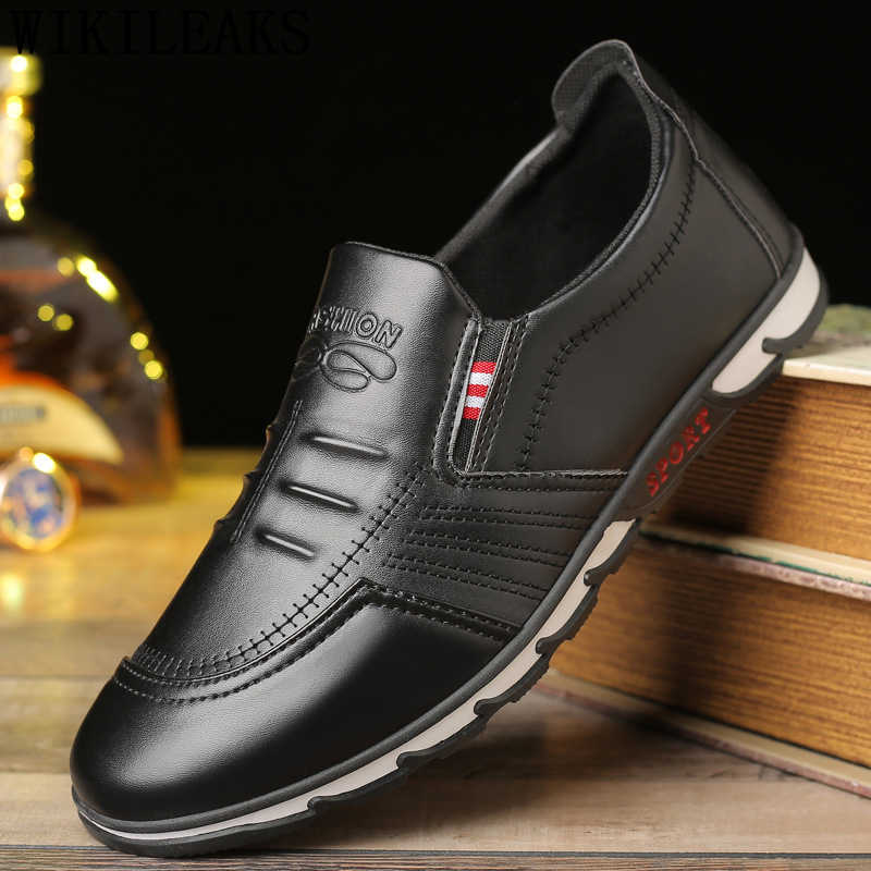 พ่อรองเท้าผู้ชายแบรนด์หรูผู้ชายสบายๆรองเท้าหนังผู้ชายรองเท้ารองเท้าผู้ชายคุณภาพสูงบน chaussure homme erkek ayakkabi