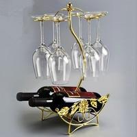 新しい金属バーレッドワインラックワインボトルホル