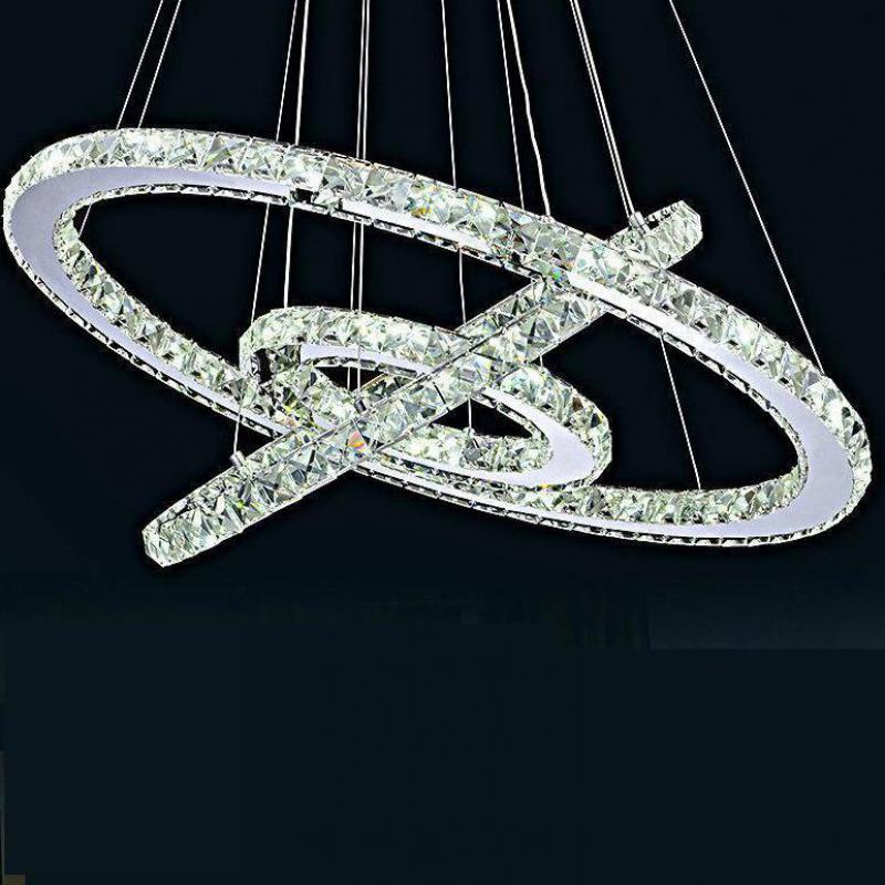 Stainless Steel Ring Led Crystal Chandelier, Living Room Dining Room Lamps, Bedroom Lights, Modern Art Lights mc photo frame stage magic tricks close up accessories card magic props toys