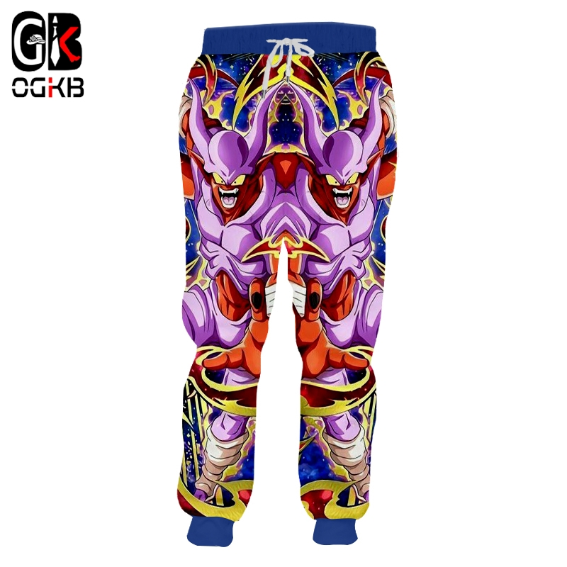 OGKB Winter Men Hot Loose Sweatpants Anime Trousers 3D Printed Dragon Ball Hiphop Oversized Attire Unisex Autumn Jogger Pants