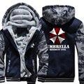 [Xinyu] новый Зима Теплая Resident Evil 6 Толстовки Игры Зонтик С Капюшоном Пальто Толщиной Молнии повседневная кардиган Куртка Толстовка
