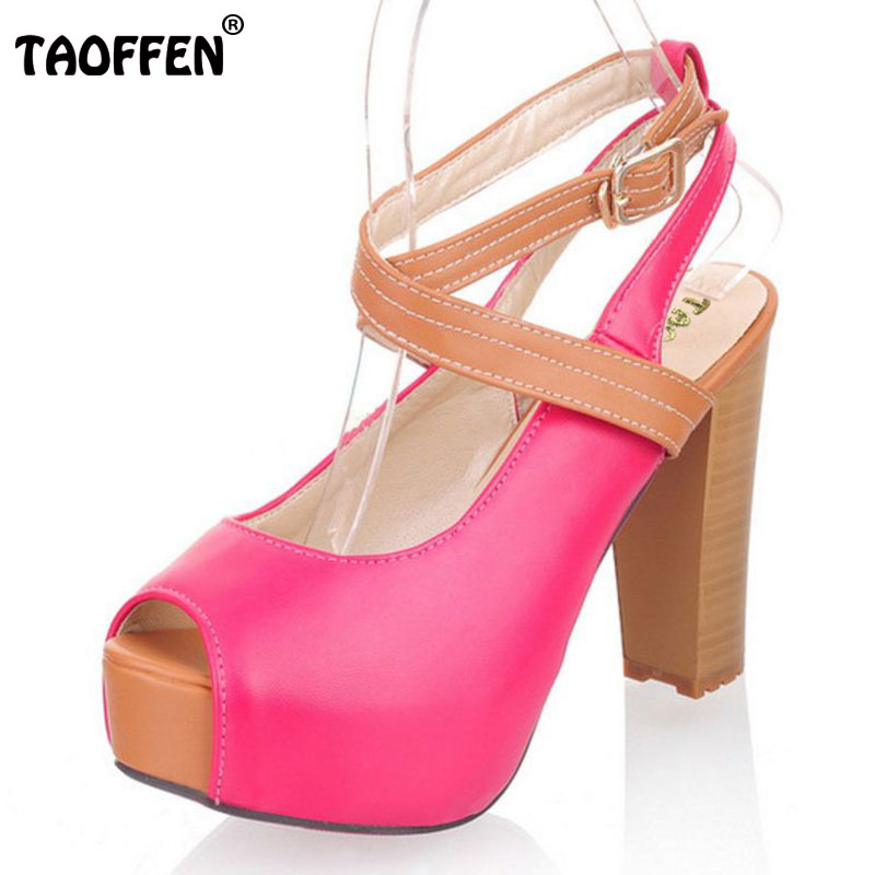 TAOFFEN women high heel sandals platform fashion dress lady sexy shoes heels quality pumps P5321 Hot sale EUR size 32-43 taoffen free shipping high heel shoes women sexy dress footwear fashion lady female pumps p13165 hot sale eur size 32 43