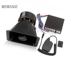 MZORANGE 12V 100W 5 Tone Speaker With Car Siren Horn Siren Motorcycle Car Horn with Loudspeaker 105db Auto Speaker Alarm цены