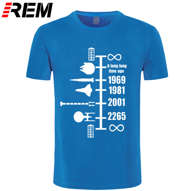 SpaceShip Timeline T-Shirt Inspired by Doctor Who StarWars Star Trek Funny top cotton short sleeve t shirt Gift tshirt 4