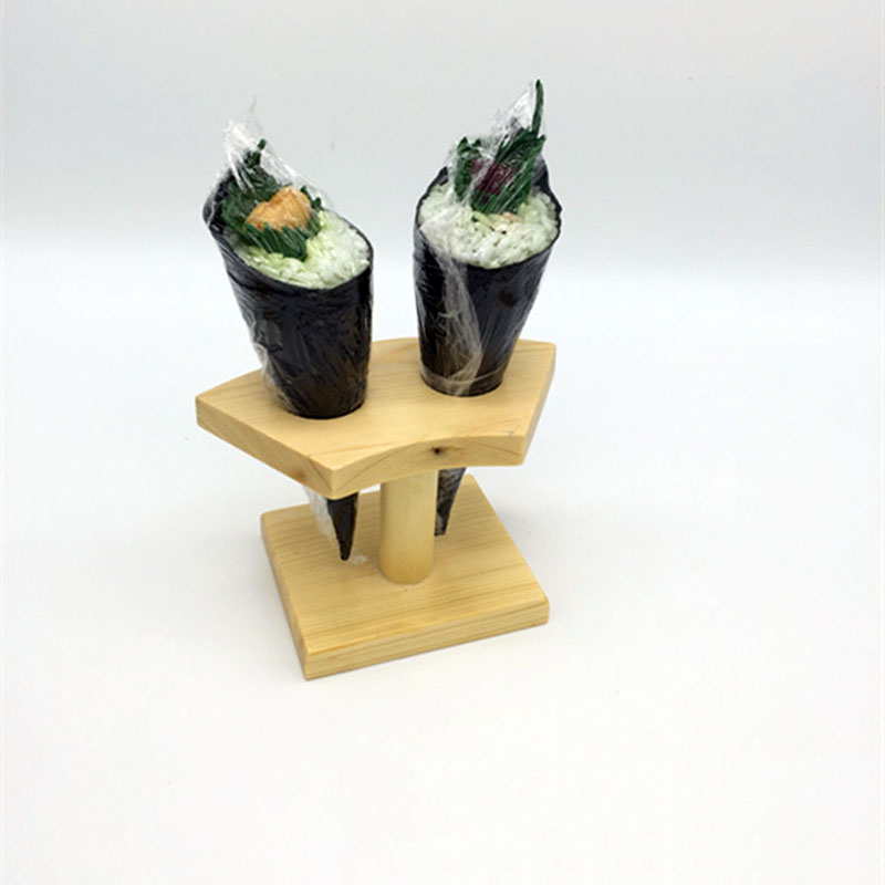 Famous Bamboo sushi stations icecream cones display stand wood buffet  WV03