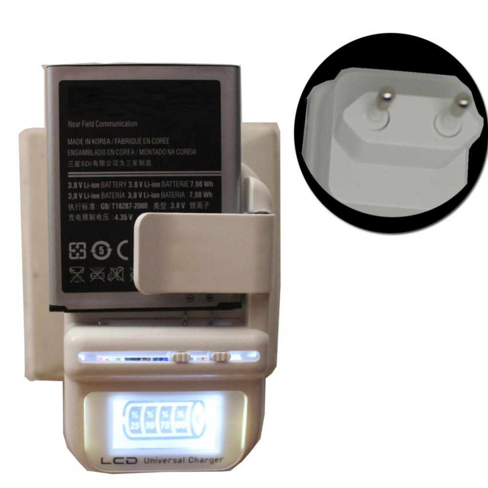 Mix colors EU /US PLUG Universal Battery Charger LCD Indicator Screen For Cell Phones USB Charger Samsung Battery Charger