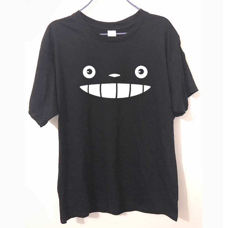 Zapatos casuales para hombre de verano Anime mi vecino Totoro cara impresión de camisetas de manga corta