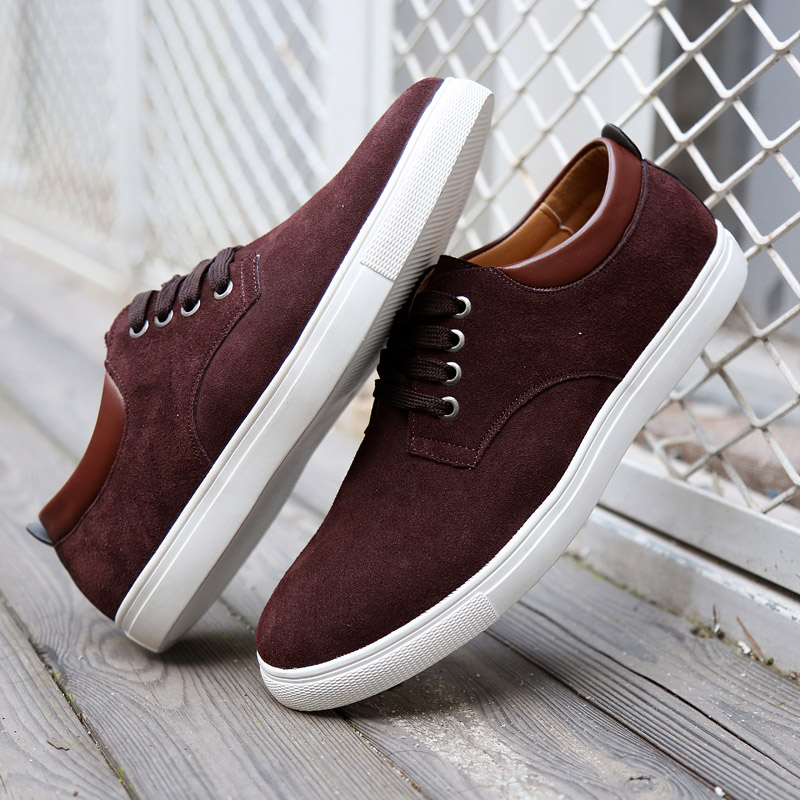 DXKZMCM 2019 Men Casual Shoes Moccasins Men Loafers Luxury Brand Sneakers   Suede     Leather   Male Boat Shoes