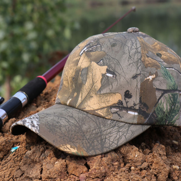 Einstellbare größe Dschungel Wald Camouflage Hut Kappe Camo Baseball Für Jagd Angeln