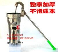 Thickened 2MM well pump Stainless steel Hand pump wells Pressure water Domestic Oil pump Manual pump Water shaking machine
